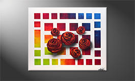 Art moderne 'Colors Of Roses' 100x80cm