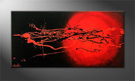 Art moderne 'Cosmic Eruption' 120x60cm