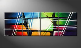 Art moderne 'Crashed Rainbow' 240x80cm