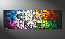 Art moderne 'Disarranged Colors' 210x70cm