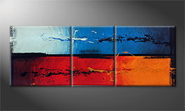 Art moderne 'Fire and Ice' 190x70cm