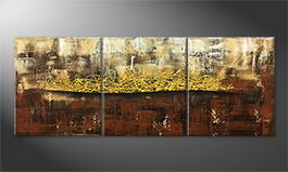 Art moderne 'Golden Afterglow' 180x70cm