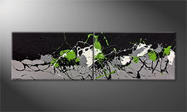 Art moderne 'Green Blood' 200x60cm