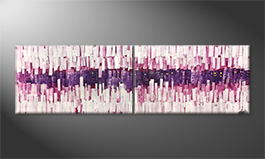 Art moderne 'Growing Pink' 200x60cm