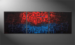Art moderne 'Heated Blue' 210x70cm