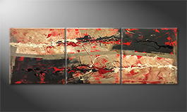 Art moderne 'Hot Feelings' 210x70cm