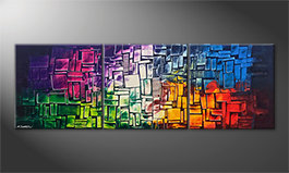 Art moderne 'Invasion Of Colors' 210x70cm