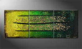Art moderne 'Jungle Gold' 210x80cm