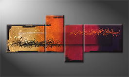 Art moderne 'Magic Sundown' 240x100cm