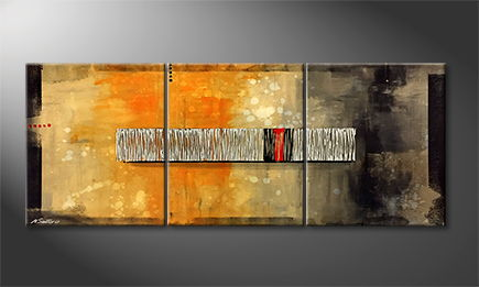 Art moderne 'Red Hot' 180x70cm