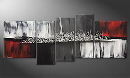 Art moderne 'Silver Connection' 190x80cm