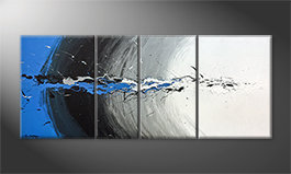 La belle peinture 'Blue Light Splash' 170x70cm