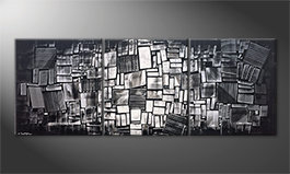La belle peinture 'Night Lights' 210x80cm