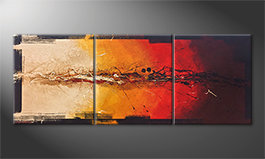 La belle peinture 'Set On Fire' 180x70cm