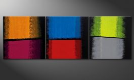 La peinture 'Departed Colors' 210x70cm