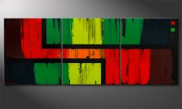 La peinture 'Urban Jungle' 180x70cm