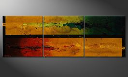 La peinture contrastée 'Blowing Elements' 150x50cm