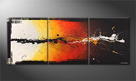 La peinture exclusive 'Altercation' 180x70cm