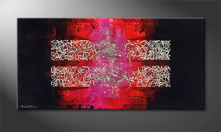 La peinture exclusive 'Broken Bars' 120x60cm