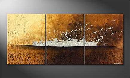 La peinture exclusive 'Cant Stop Steel' 180x80cm