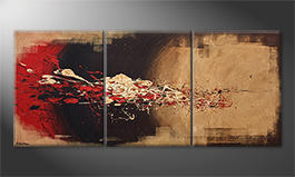 La peinture exclusive 'Clash' 210x90cm