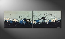 La peinture exclusive 'Coast Line' 200x60cm