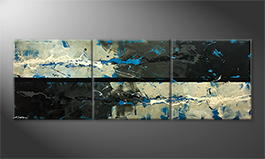 La peinture exclusive 'Cold Splash' 210x70cm
