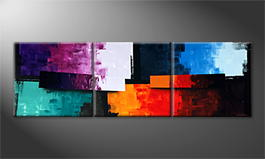 La peinture exclusive 'Color Clash' 240x80cm