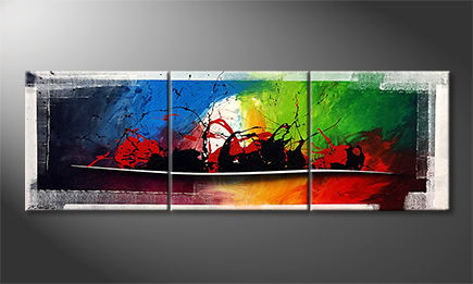 La peinture exclusive 'Colorful World' 210x70cm