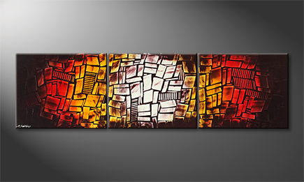 La peinture exclusive 'Cozy Place' 210x60cm