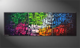 La peinture exclusive 'Cubic Colors' 210x70cm