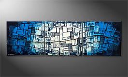 La peinture exclusive 'Cubic Wave' 240x70cm