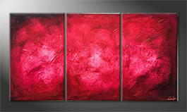 La peinture exclusive 'Deep Red' 150x80cm