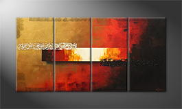 La peinture exclusive 'Fiery Night' 160x80cm