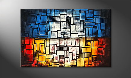 La peinture exclusive 'Fire And Ice' 120x80cm