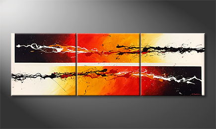 La peinture exclusive 'Fire Of Motion' 210x70cm