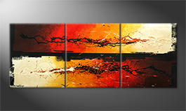La peinture exclusive 'Fire Splashes' 210x70cm