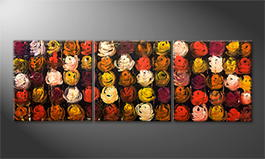 La peinture exclusive 'Flower World' 210x70cm