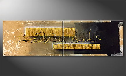 La peinture exclusive 'Golden Cage' 200x60cm