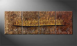 La peinture exclusive 'Golden Fontains' 200x60cm
