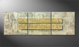 La peinture exclusive 'Golden Light' 210x70cm