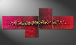 La peinture exclusive 'Golden Melody' 260x110cm