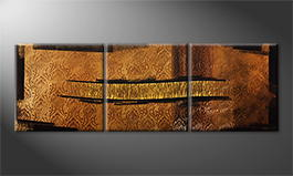 La peinture exclusive 'Golden Way' 210x70cm