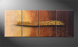 La peinture exclusive 'Golden Whisper' 200x80cm