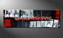 La peinture exclusive 'Heat Is On' 210x70cm