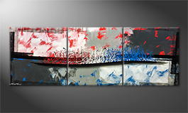La peinture exclusive 'Hot and Cold' 210x70cm