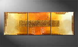 La peinture exclusive 'Indian Gold' 180x60cm