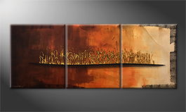 La peinture exclusive 'Indian Sunrise' 180x70cm