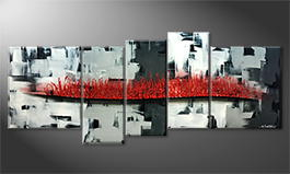 La peinture exclusive 'Inflammable City' 190x80cm