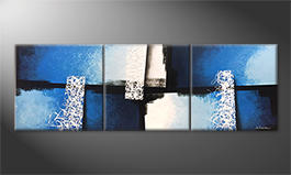 La peinture exclusive 'Light Fountains' 210x70cm